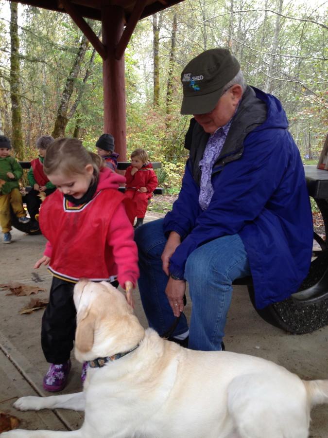 Meeting Kona - a very happy dog!