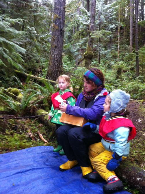 Reading our letter from the Victoria Nature School kids and teacher.