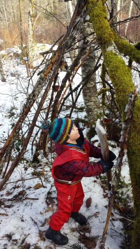 Torin worked on this fort ceaselessly overtime we visited this classroom. He took pride in guiding others on where to put sticks and finding his own long ones.