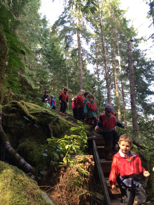 The group exclaimed that they wanted to keep going and going on this steep, tricky and winding path alongside the lake. They really proved to us their strength and interest in exploring!