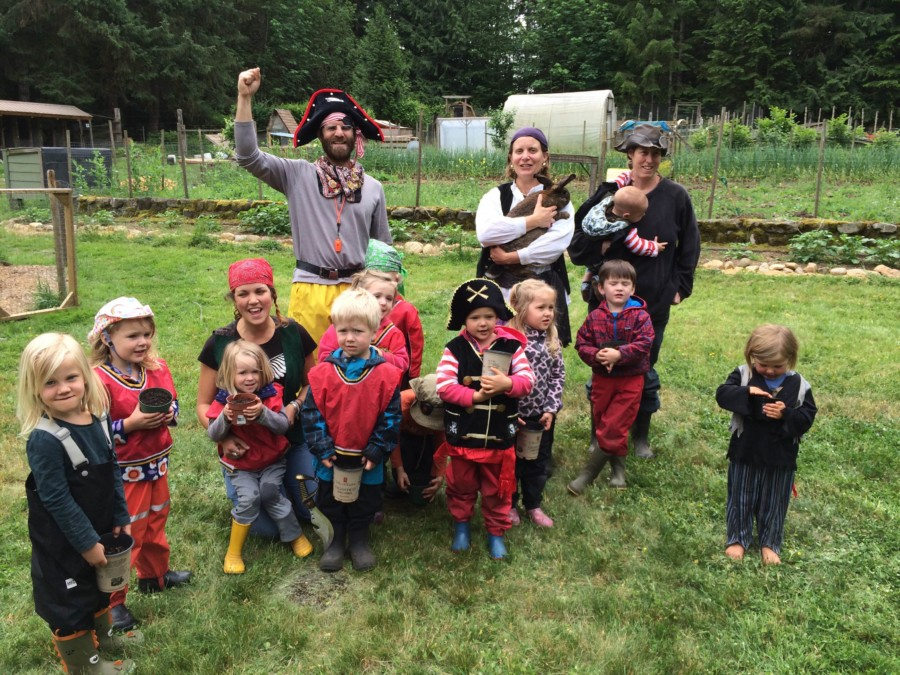 At the Pirate's Pond we learned a little about where our vegetables, eggs or meat might come from by forging a connection between the farmers and our food. And a fun time playing too!